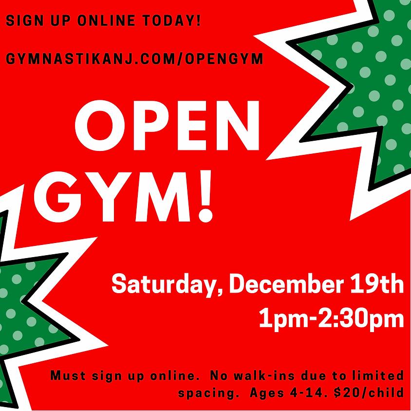 Open Gym:  Saturday, December 19th