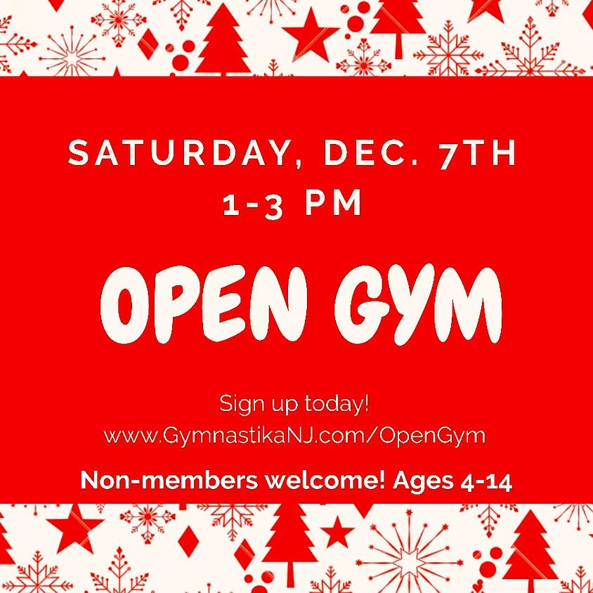 Open Gym:  Saturday, December 7th