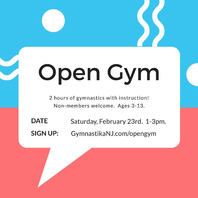 Open Gym:  Saturday, February 23rd