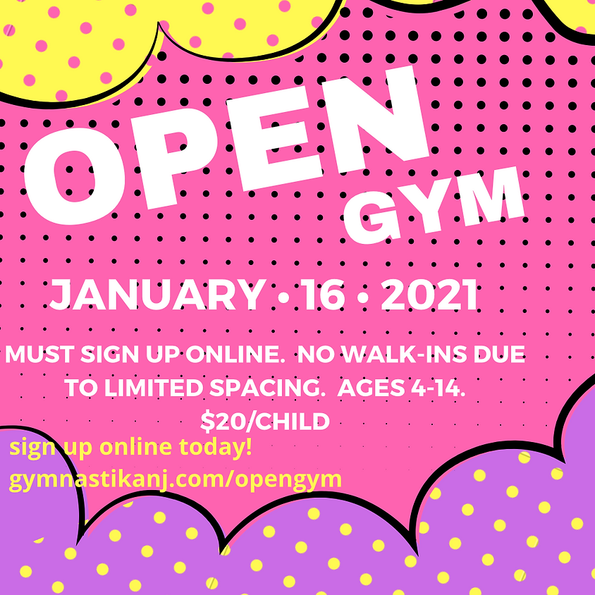 Open Gym:  Saturday, January 16th
