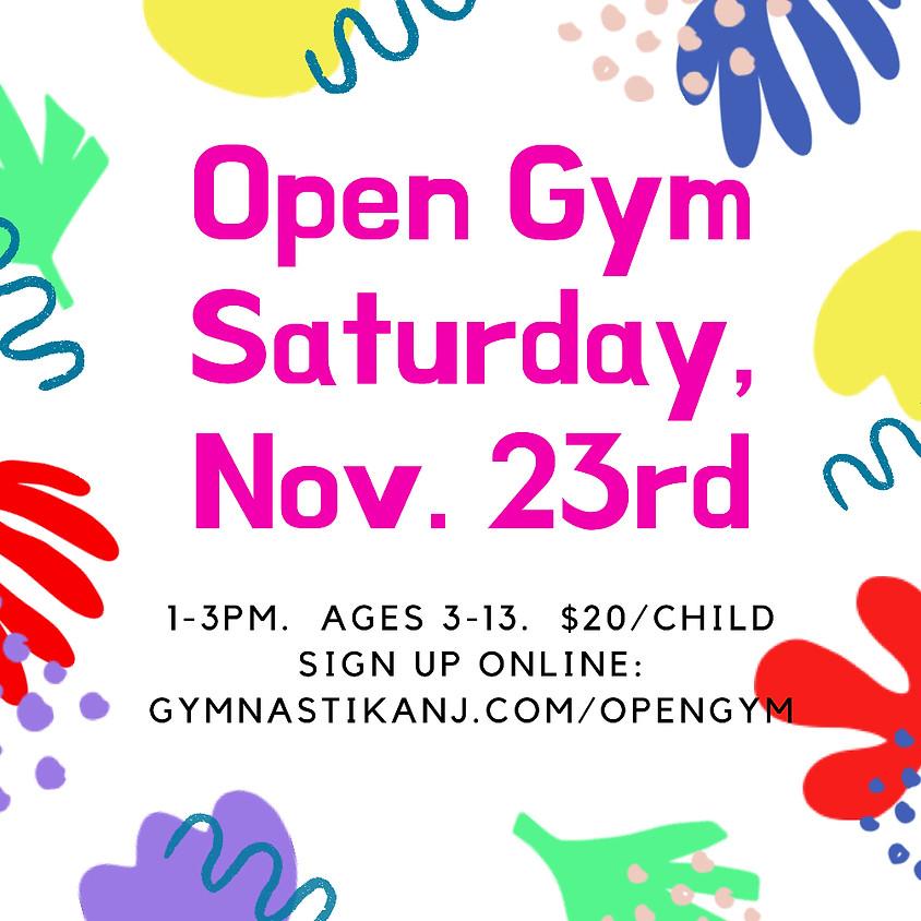 Open Gym:  Saturday, November 23rd