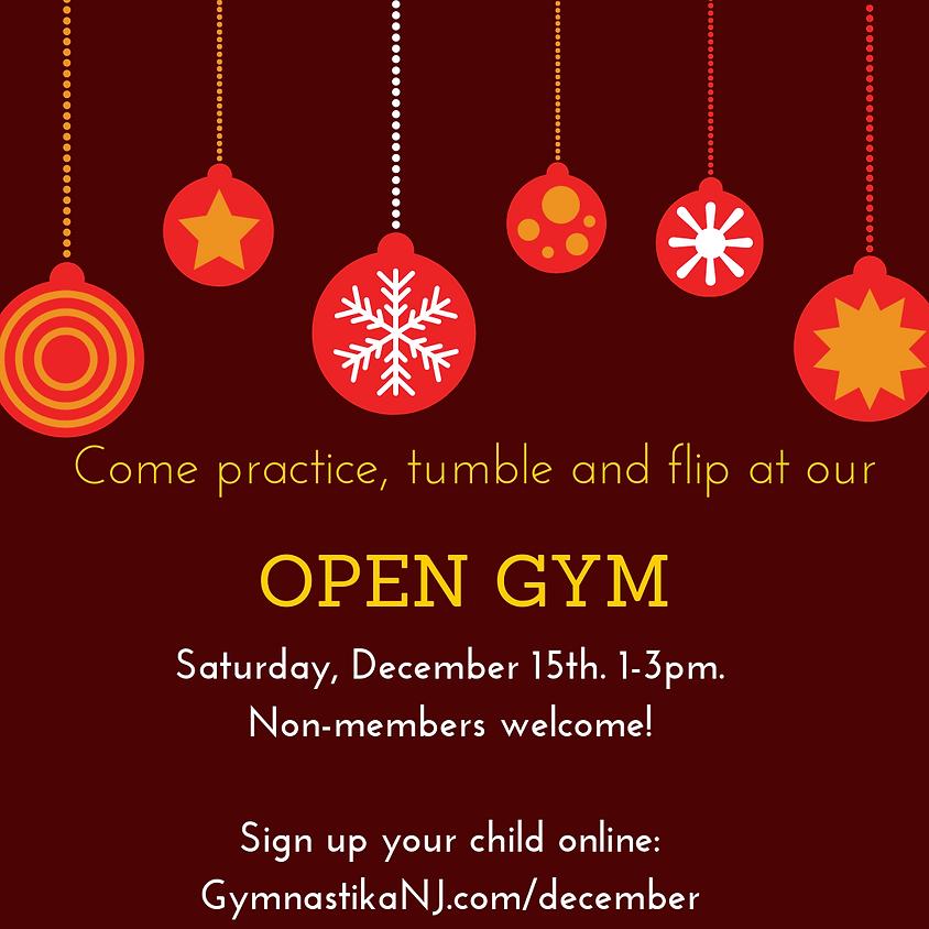 Open Gym:  Saturday, December 15th