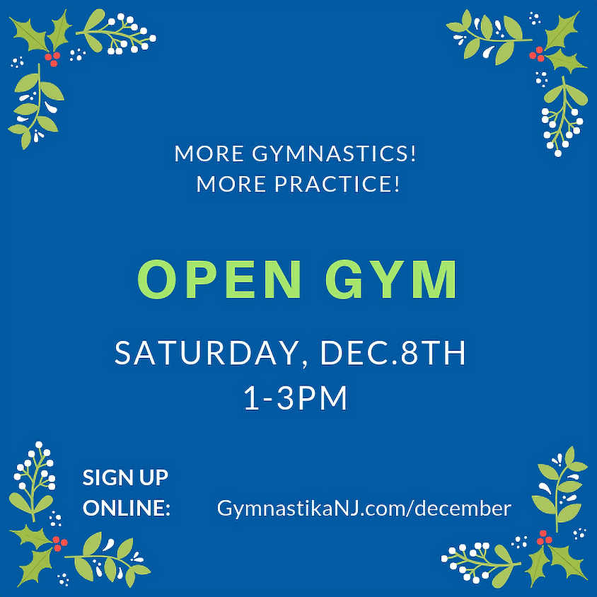 Open Gym:  Saturday, December 8th
