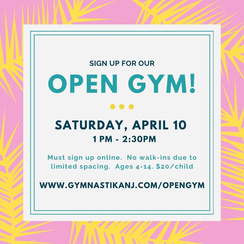 Open Gym:  Saturday, April 10th