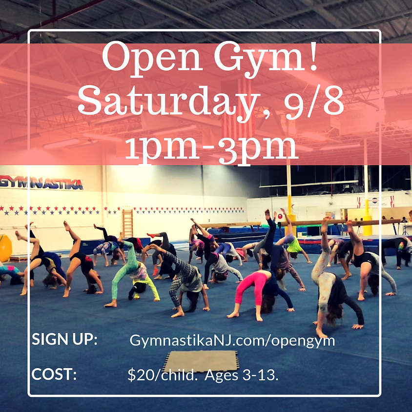 Open Gym- 9/8!