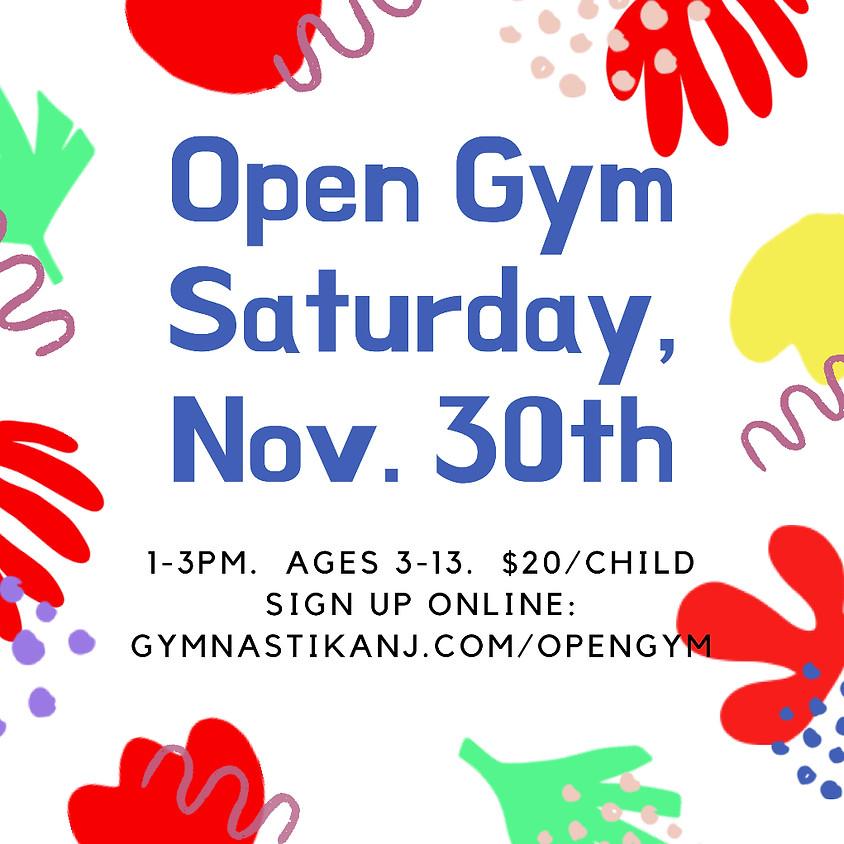 Open Gym:  Saturday, November 30th