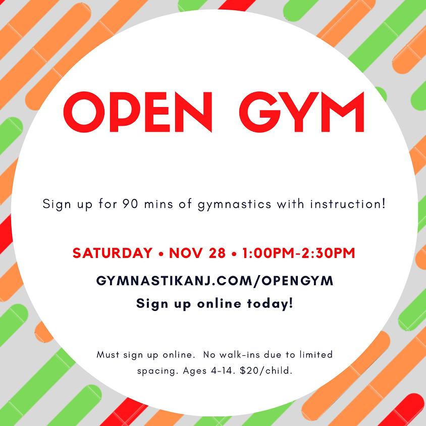Open Gym:  Saturday, November 28th