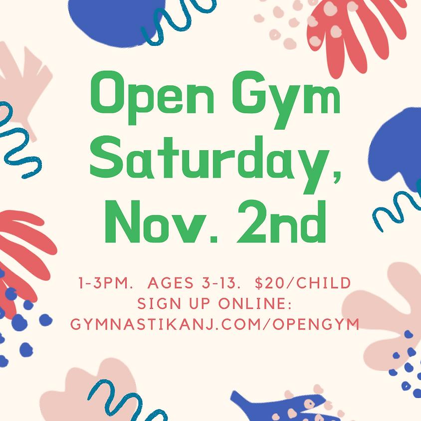 Open Gym:  Saturday, November 2nd