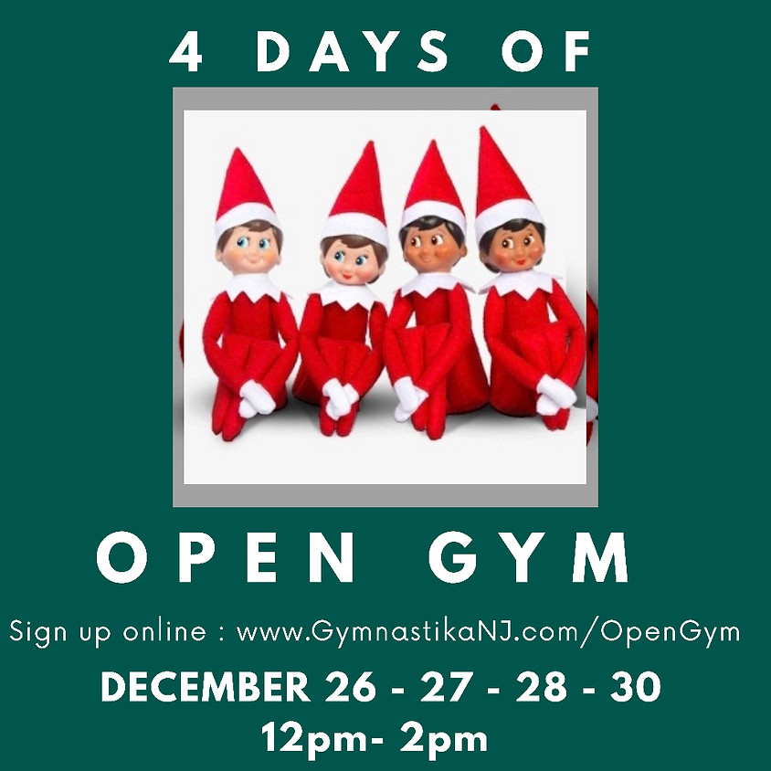 Open Gym:  Thursday, December 26th