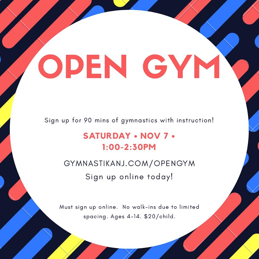 Open Gym:  Saturday, November 7th