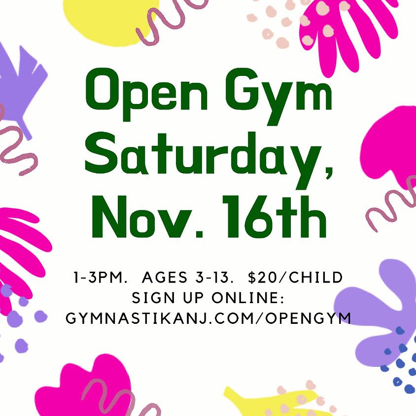 Open Gym:  Saturday, November 16th