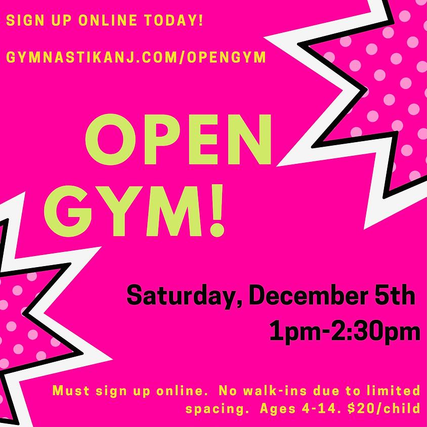 Open Gym:  Saturday, December 5th