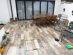 Outdoor wood efect tile