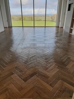Heringbone floor on master bedroom(1)