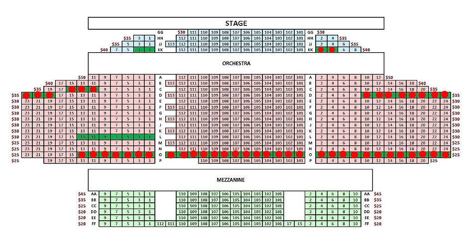 On Stage at Kingsborough Seating Chart-T