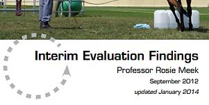 The HorseCourse Interim Evaluation Report 2012