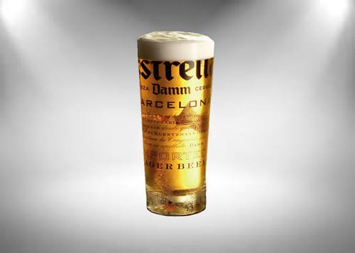 estrella half pint beer glass half pint 10oz
