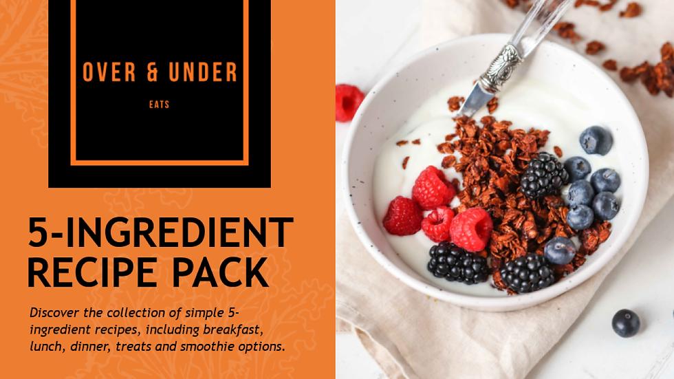 5 ingredient Recipe Ebook