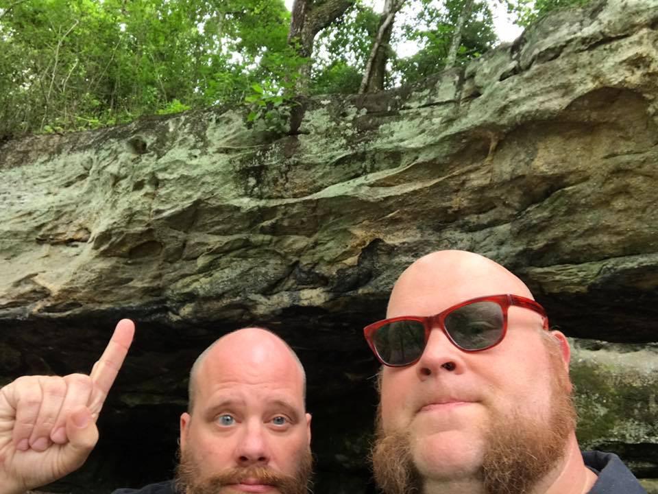 Us under the Natural Bridge