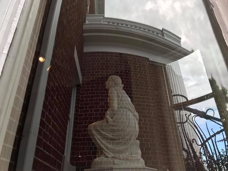 Statue in the Bay Window