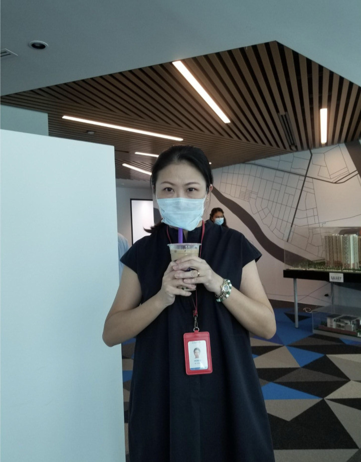 office staff with mask