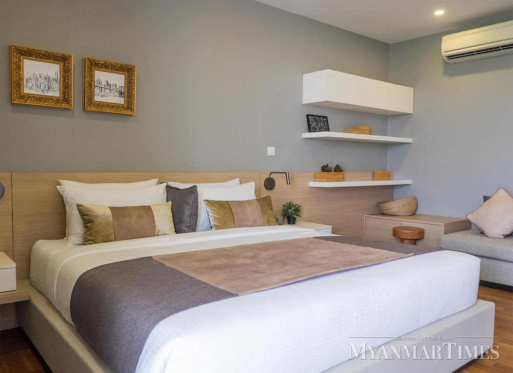 Interior Design, Cozy Bedroom of Lotus Hill, Pun Hlaing golf estate, lowest density community with luxurious lifestyle