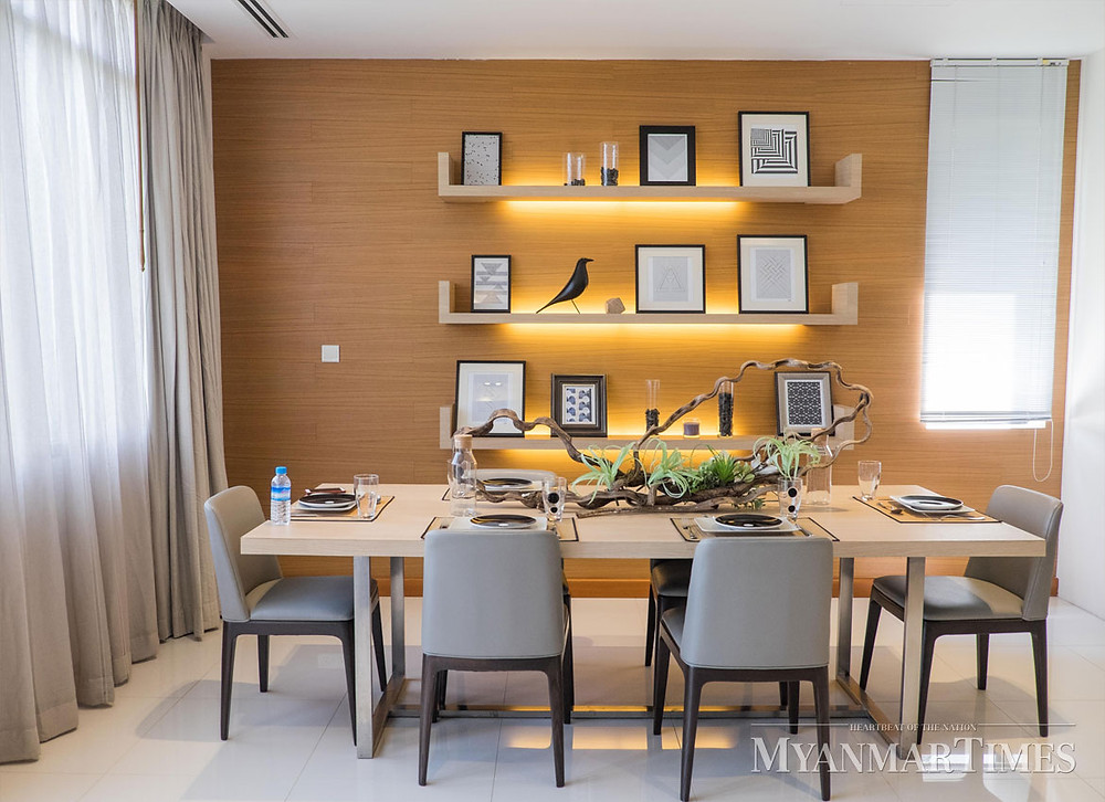 Interior Design, Dinning Room of Lotus Hill, Pun Hlaing golf estate, lowest density community with luxurious lifestyle