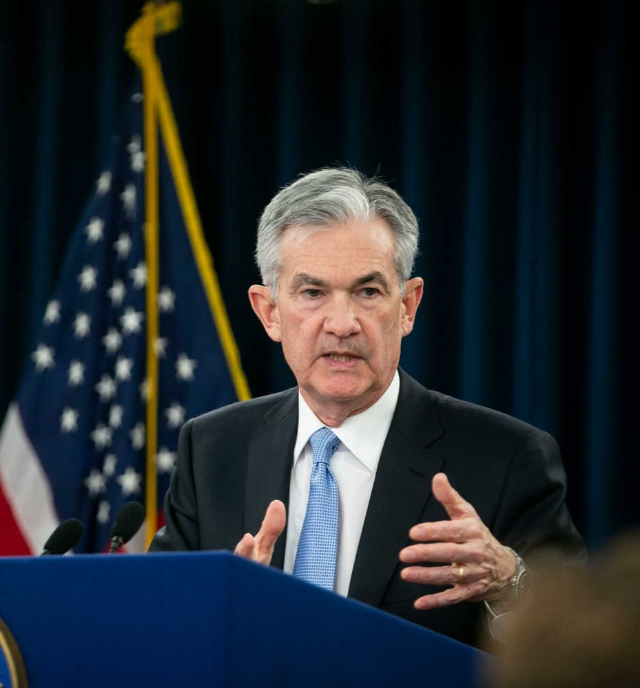 Fed Chairman Jerome Powell announces recent rate cut.