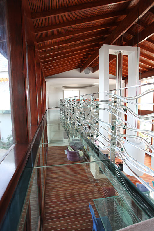 Decorative Glass Railing