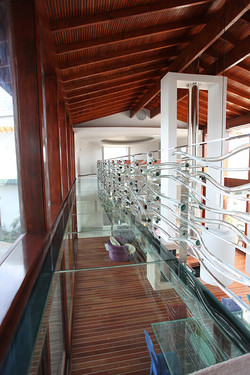 Decorative Glass Railing