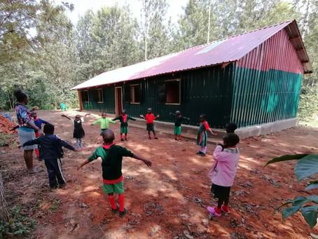 Temporary kindergarten up and running !