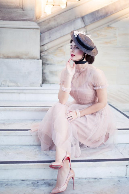 "Idda van Munster wearing Ginger Jackie`s ""Bella"" dress"