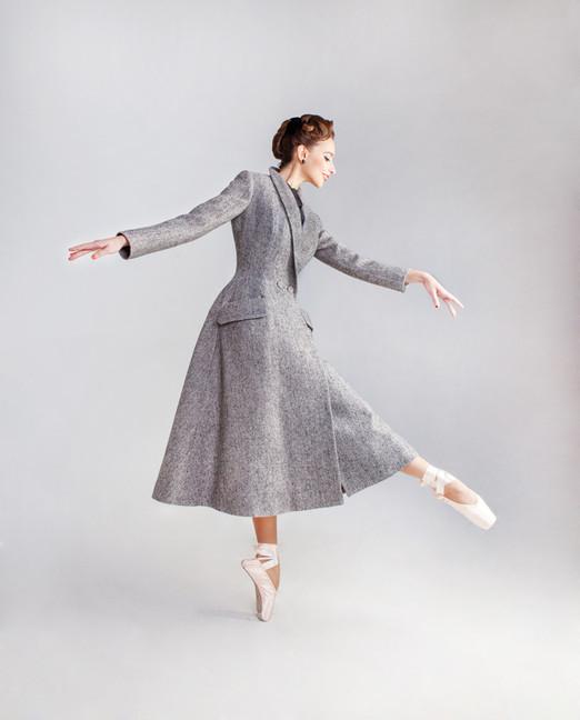 """Carolina"" coat, Photo Elena Apostolskay, Model Ekaterina"