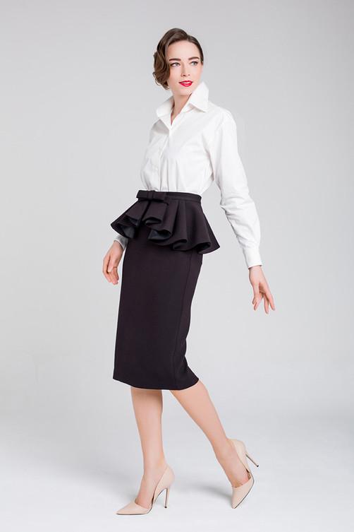 """Camisa"" shirt and ""Pencil"" skirt with peplum"