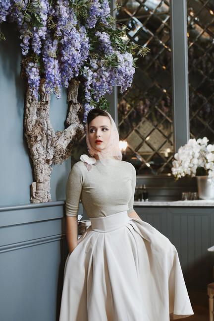 """Idda van Munster wearing Ginger Jackie`s """"Drama"""" skirt"""