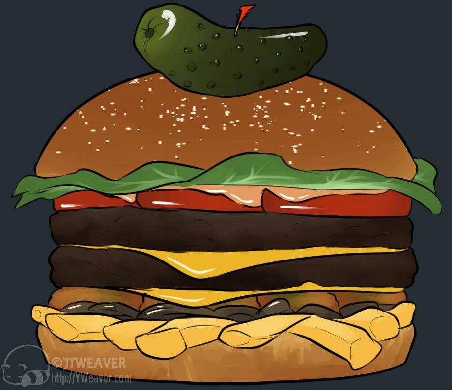 Burger Icon Illus.