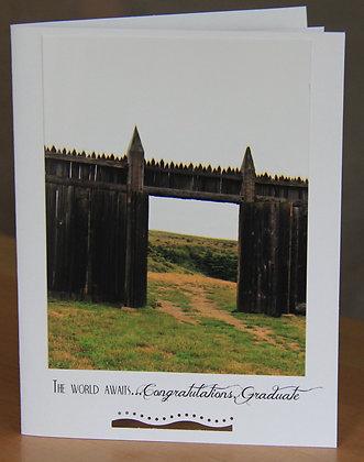 The World Awaits Graduate - Gate Doors