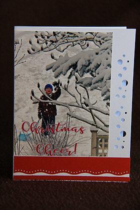 Christmas Cheer Sledding Child