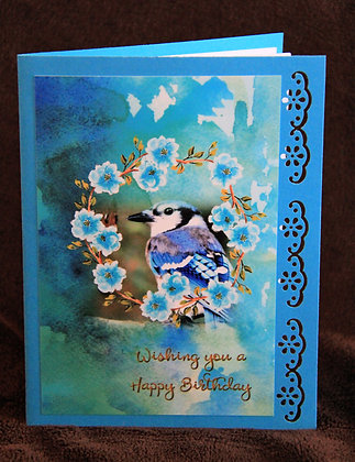 HB Bluebird in Floral Wreath