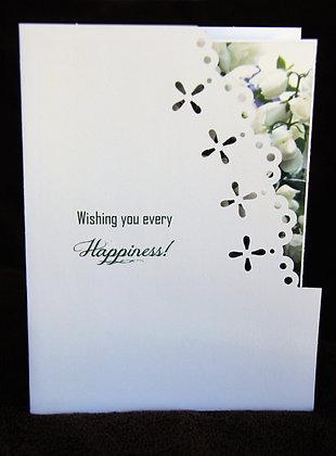 Peek-a-boo Floral Wedding Congrats 1