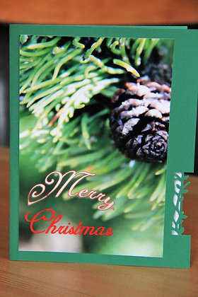 Evergreen and Pinecone Merry Christmas