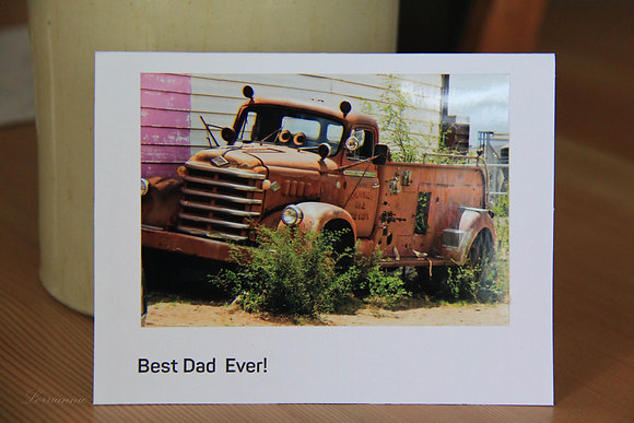 Father's Day - Best Dad Ever - Old Truck