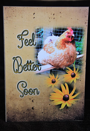 5x7 Country Chicken Get Well