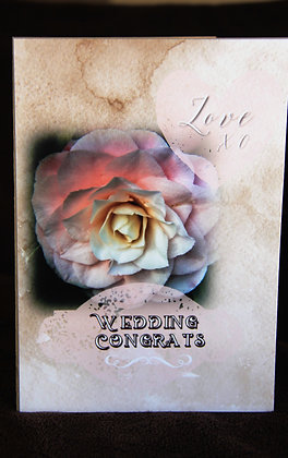 5x7 Soft and Delicate Camilla Flower Wedding Congr