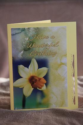 HB WaterColour Bkg. Daffodill Flower