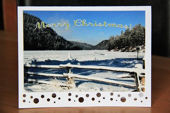 Snowy Lake Merry Christmas