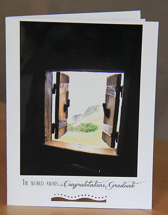 The World Awaits Graduate - Double Window