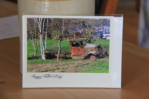 Father's Day - Old Truck in the Trees