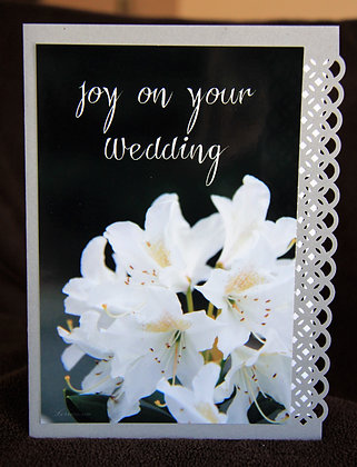 Joy on Your Wedding White Cluster