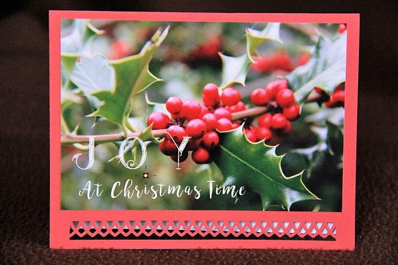 Joy at Christmas Holly Berries